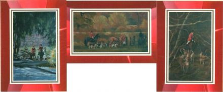 Hunting Scene Set of 3 Blank Cards Illustrated by Alison Wilson